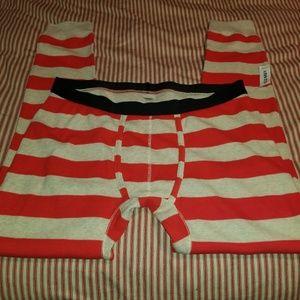 NWT Old Navy Orange Stripe Thermal Pants